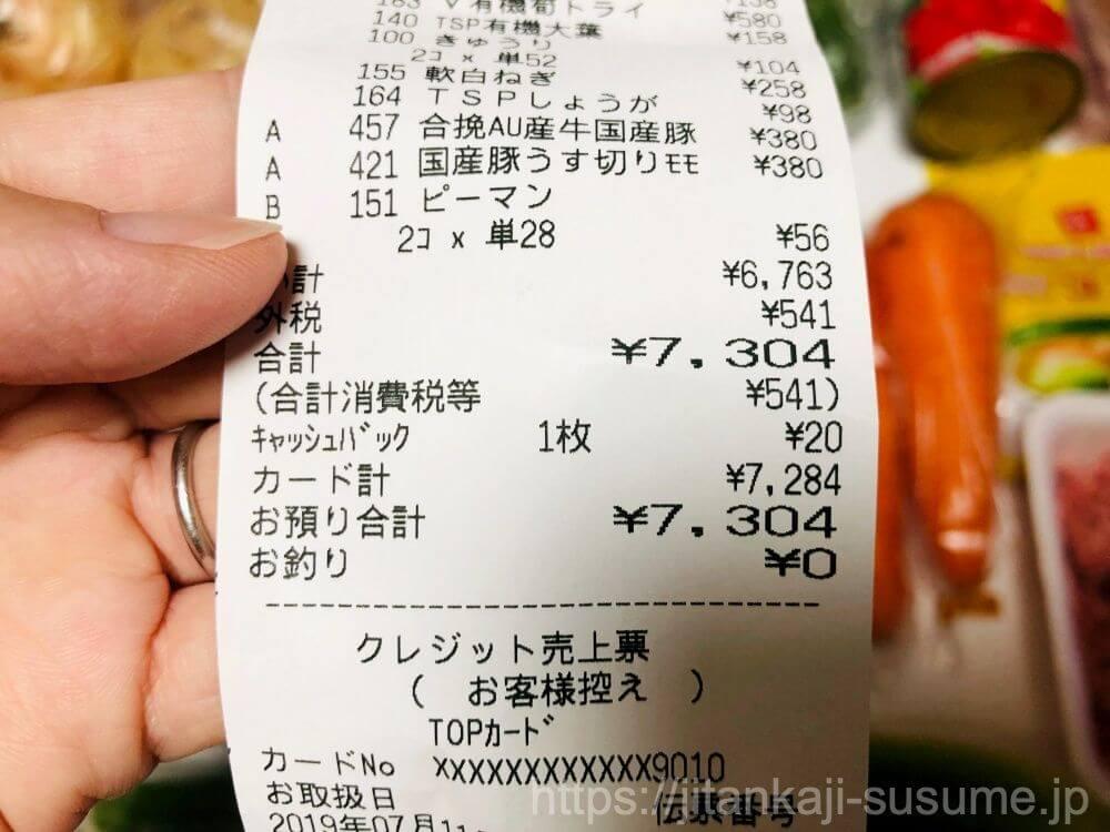 タスカジの料理代行_材料費